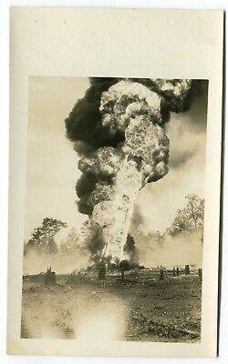Real Photo Postcard Rppc Gladewater Texas Oil Well Disaster Fire Cole #7