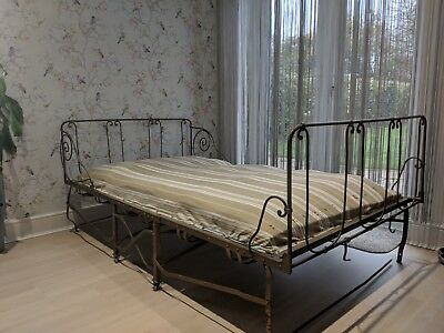 Antique french day bed - sprung mattress