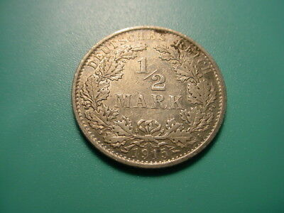 Germany - Silver - 1915-A Half Mark In Very Nice Condition