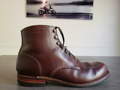 9b5329cf421 WOLVERINE 1000 MILE Size 11D Brown Chromexcel Courtland Boots Horween USA  Made