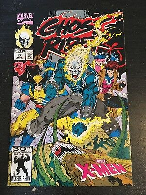 Ghost Rider#27 Incredible Condition 9.4 X-men,Brood App, Jim Lee Cover(1992)