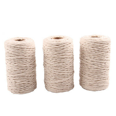 100M Macrame Rope Natural Beige 2MM Cotton Twisted Cord Artisan Hand Craft New