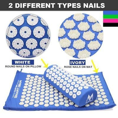 Acupressure Yoga Mat Pain Massage Stress Pillow Acupuncture Relax Relief Relieve