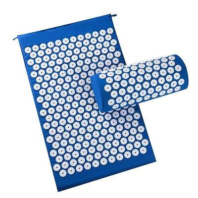 Acupressure Mat Acupuncture Massage Stress Relief Yoga Set Back And Neck Pillow