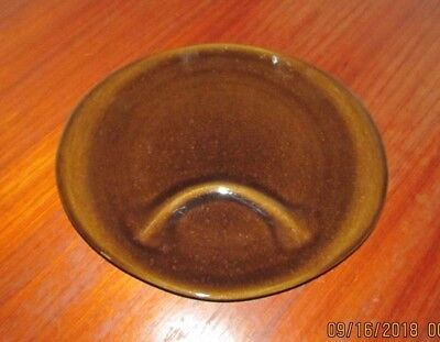 Russel Wright ~ Steubenville ~ Brown Oval Snack Plate ~ Mid Century Modern Cool