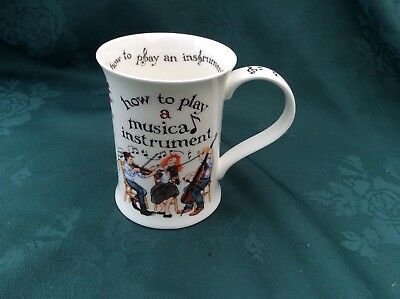 Dunoon Bone China Cup Mug How To Play A Musical Instrument By Cherry Denman