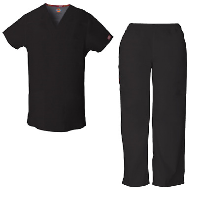 DICKIES Men Scrubs SET V-Neck Top 81906 and Pant 81006 ~Free Same Day Shipping~
