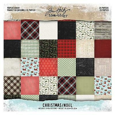 Tim Holtz Idea-Ology Paper Stash ~ CHRISTMAS ~ TH93739 20 double sided papers