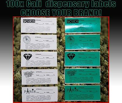 Cali Medical Labels stickers Tin Jar dram Pop Top pot 13/19 dram RX dispensary