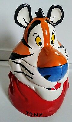 Large Ceramic Tony the Tiger Cookie Jar - Kelloggs Frosted Flakes - Fast Ship!