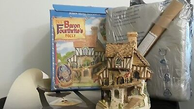 "David Winter's Cottages ""Mad Baron Fourthrite's Folly"" 1992 Limited Edition"