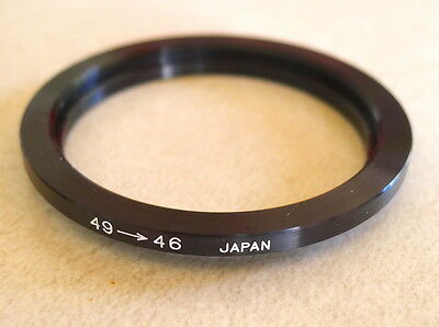 49-46mm Step-Down Ring Adapter - 49mm-46mm Stepping Ring - Japan - NEW