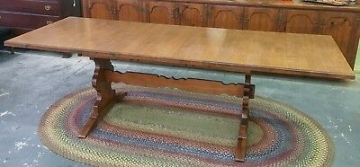 Tell City Trestle Dining Table Young Republic Collection VGC Andover Fin. RARE