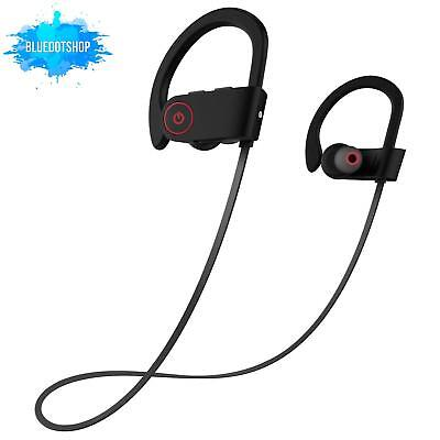 Wireless Bluetooth Headphones w/ Mic - Waterproof, Noise Canceling, 8 Hr Battery
