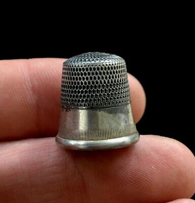 """Sterling Silver Thimble Size 11 2.3 Grams 5/8"""" D670"""
