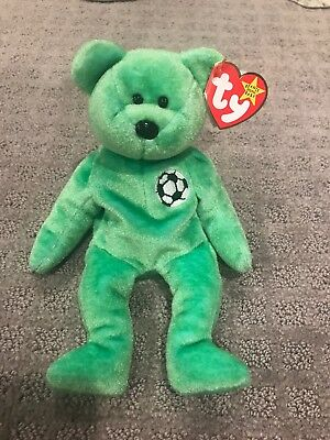 TY BEANIE BABY INCREDIBLY RARE KICKS BEAR Collectible with Tag Errors 1998