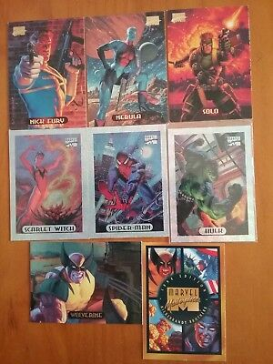 1994 Fleer Marvel Masterpieces Cards Hildebrandt Brothers including 3 Holofoils
