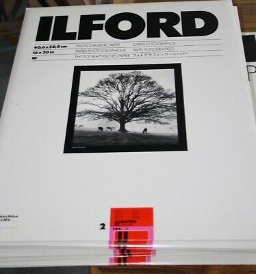 Lot 13 packs of 10 sheets Ilford Ilfospeeed RC Deluxe Gloss Photo Paper IS2 IM