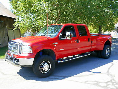 "2006 Ford F-350 Lariat 2006 FORD F350 ""Lariat"" Crew Cab 4X4 Dually Turbo Diesel Banks, ONLY 97K Mi."