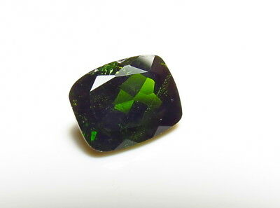 10x8mm NATURAL CHROME DIOPSIDE faceted CUSHION CUT LOOSE GEMSTONE