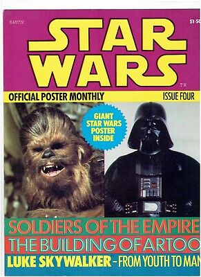 Star Wars Official Poster Monthly Issue Four Five Six set 1978