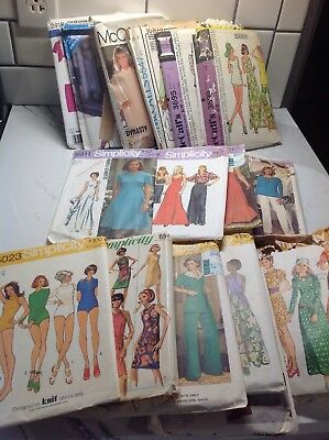 Lot of 17 Sewing Patterns 1970's