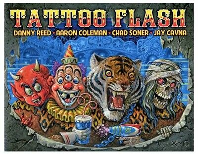Tattoo Flash by Danny Reed, Aaron Coleman, Chad Soner, Jay Cavna for Immaculate