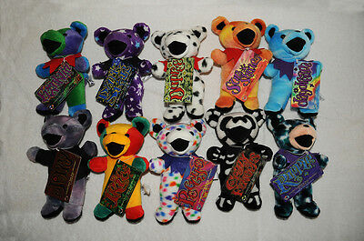 """Complete Set of Series 2 Collectible Grateful Dead 7"""" Bears"""