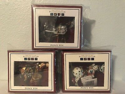 Trail Of Painted Ponies 3 Pony Pins Lot. Never Opened.