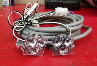 1 Pair Of Whelen #jtls1.rl11 Led Work Lights & Harness Cables.10/18 Brand New