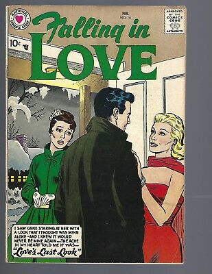 Falling Love #16 Vf- 7.0 Early Issue Dc High Grade
