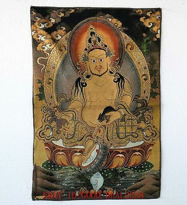 Tibet Collectable Silk Hand Painted Buddhism Thangka a9023