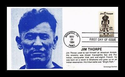 Dr Jim Stamps Us Jim Thorpe American Athlete Conestoga Cachet First Day Cover