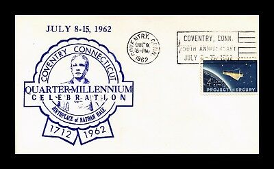 Dr Jim Stamps Us Coventry Connecticut 250Th Anniversary Cover 1962