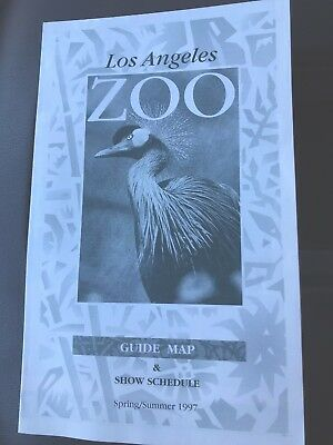 1997 Los Angeles Zoo Map