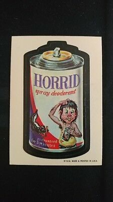 1973 Original Wacky Packages 1st Series Horrid WB Sticker