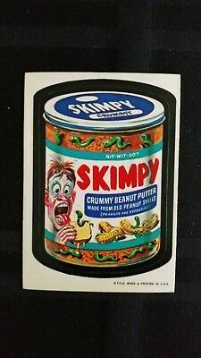 1973 Original Wacky Packages 1st Series Skimpy WB Sticker