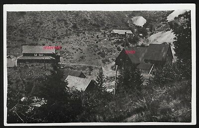 Old Photo Postcard RPPC, Mining Ghost Town, Buildings,Mill, Sumpter, Oregon,1910