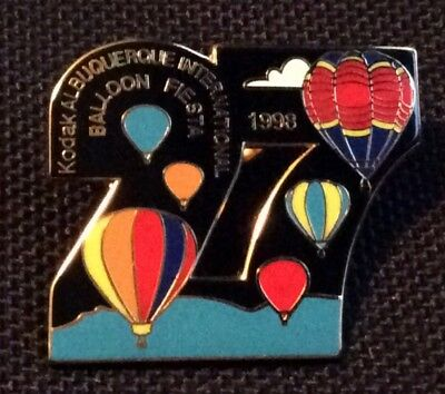 1998 Number 27 AIBF Albuquerque Balloon Fiesta Balloon Pin