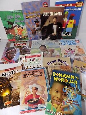 African American Childrens book lot of 34 Various Reading Levels Home School