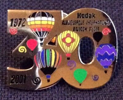 2001 Number 30 AIBF Albuquerque Balloon Fiesta Balloon Pin