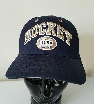 Notre Dame Hockey Fighting Irish Snapback Cap Hat 3-D Gold Embroidered NCAA NWT