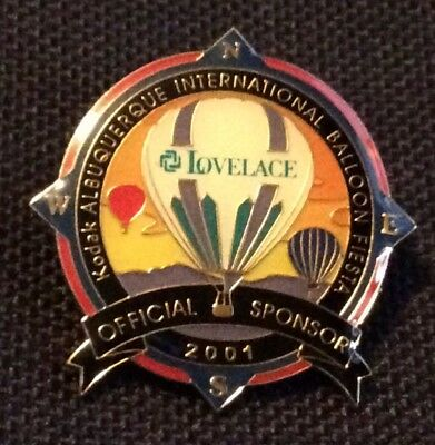 2001 Lovelace Official AIBF Sponsor Albuquerque Balloon Fiesta Pin