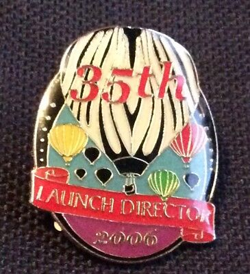 2006  AIBF Launch Director Zebra  Albuquerque Balloon Fiesta Pin