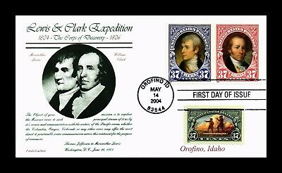 Dr Jim Stamps Us Lewis Clark Expedition Combo First Day Cover 2004 Panda Cachet