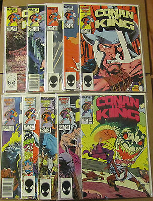CONAN THE KING #20 - #55 ~ Marvel Comics ~ 1984-1989 ~ F/VF (Lot of 17)