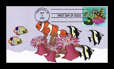 Dr Jim Stamps Us Undersea First Day Cover Honolulu Hawaii 1994