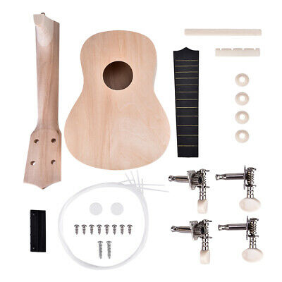 21inch Make Your Own Basswood 4 String Ukelele DIY Kit Instrument Accessory New