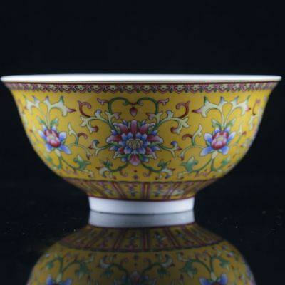 Delicate Chinese Famille Rose Porcelain Handwork Painted Flower Bowl NR012