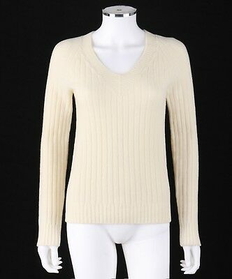 b9baa12351 THE ROW SWEATER Cream Knit Nylon Blend Tie Neck Tunic Top Made in ...